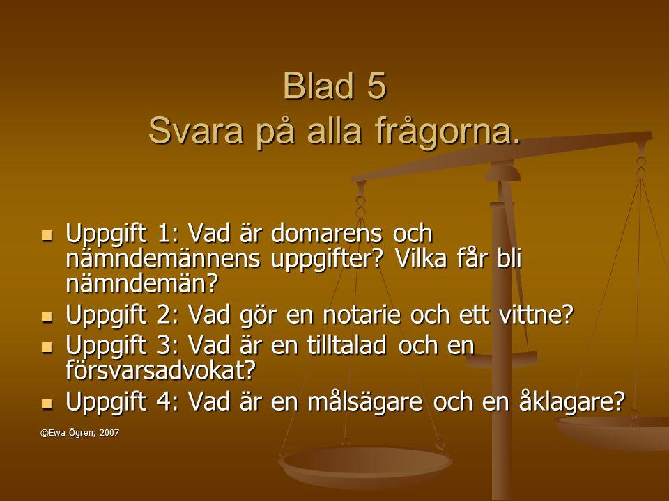 Blad 6 Nu ska ni läsa ett drama: Bara en flaska schampo Dramat finns på blad 7a och 7b.