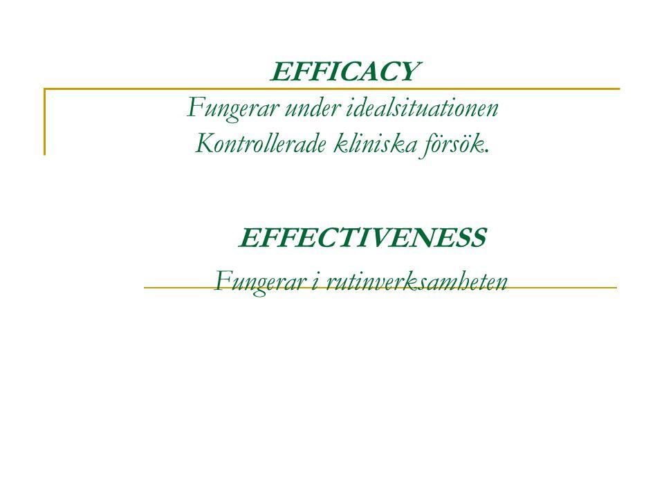 EFFECTIVENESS Fungerar i rutinverksamheten