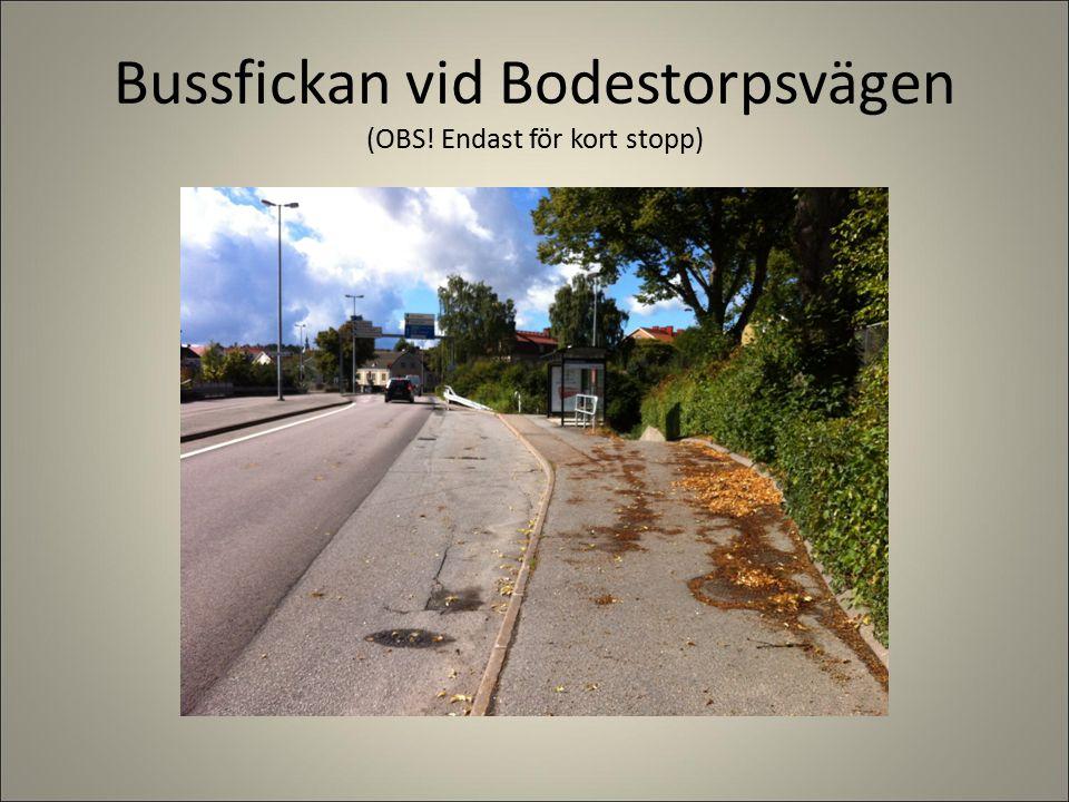 Bussfickan vid Bodestorpsvägen (OBS! Endast för kort stopp)