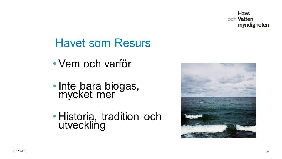 För att ändra/uppdatera/ta bort Presentationsnamn och Namn i foten, gå in på Infoga - Sidhuvud/sidfot Havet som Resurs Vem och varför Inte bara biogas, mycket mer Historia, tradition och utveckling 2015-03-213