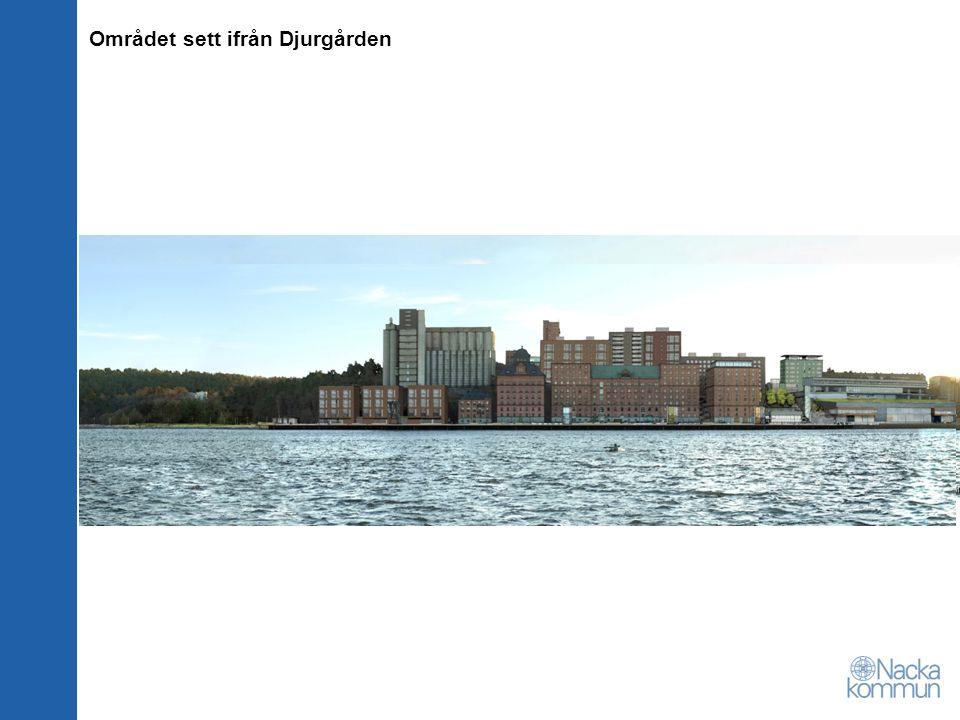 Området sett ifrån Djurgården