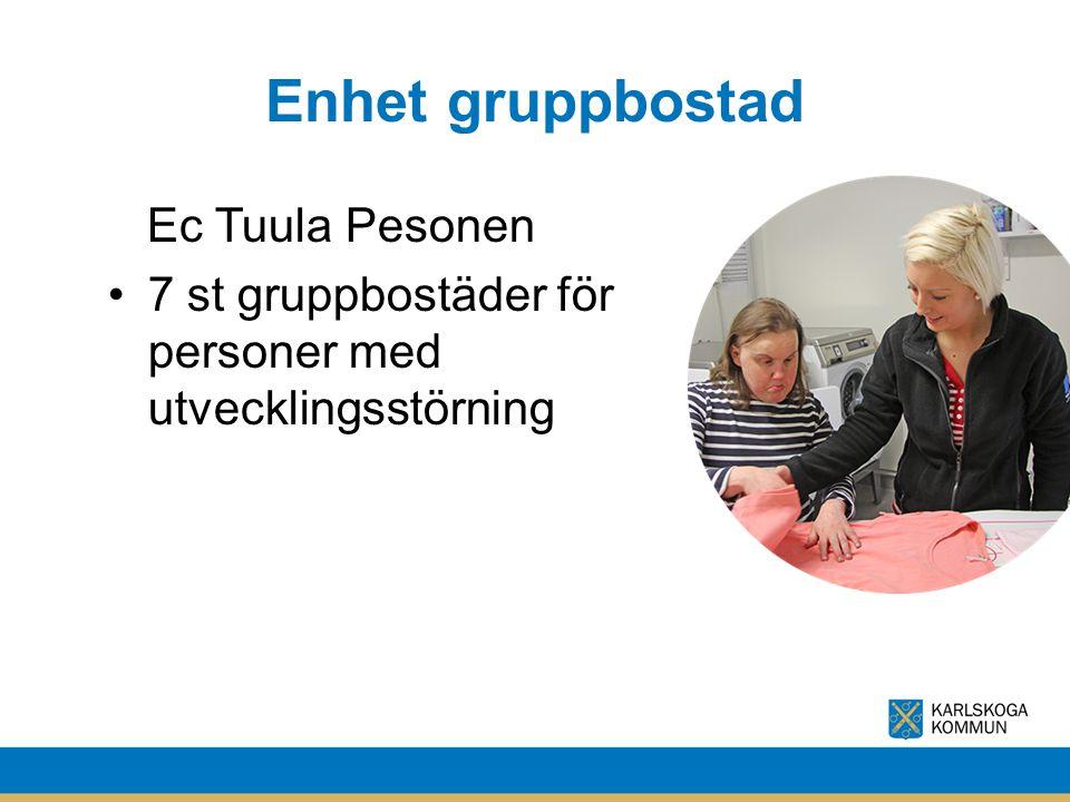 Enhet gruppbostad Ec Tuula Pesonen 7 st gruppbostäder för personer med utvecklingsstörning