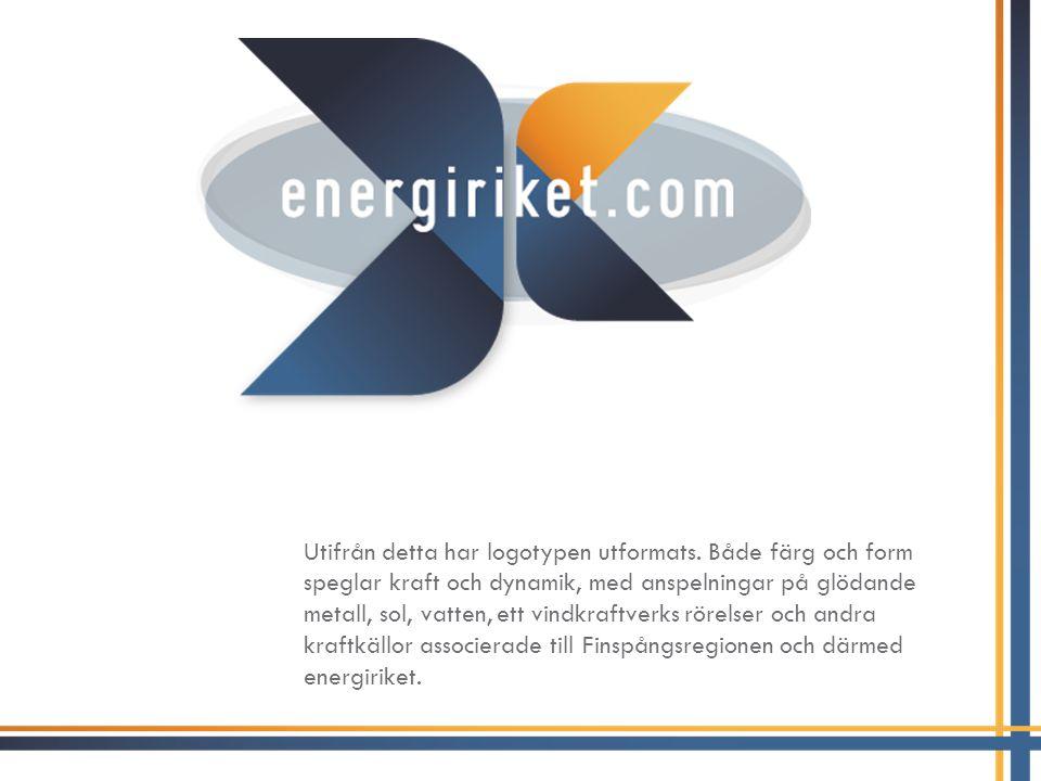 En integrerad del i logotypen är url:en energiriket.com, som i grundversionen ligger placerad i logotypens mitt, men som vid behov kan placeras på andra sätt.