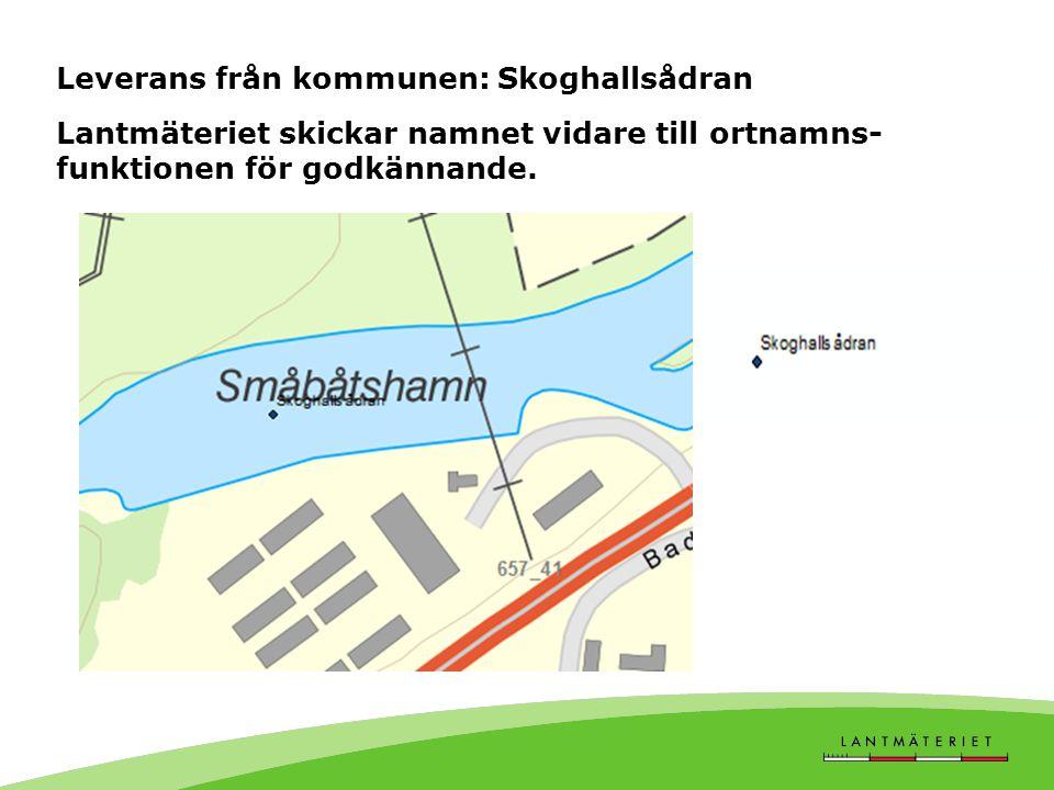 Leverans från kommunen: Ta bort upplysningstexten Såg Lantmäteriet tar bort upplysningstexten.