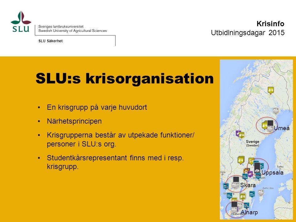 SLU:s krisorganisation.