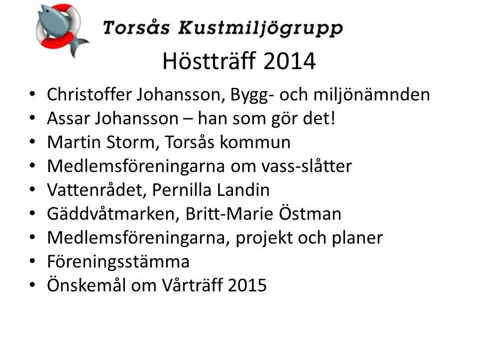 Höstträff 2014 Christoffer Johansson, Bygg- och miljönämnden Assar Johansson – han som gör det.