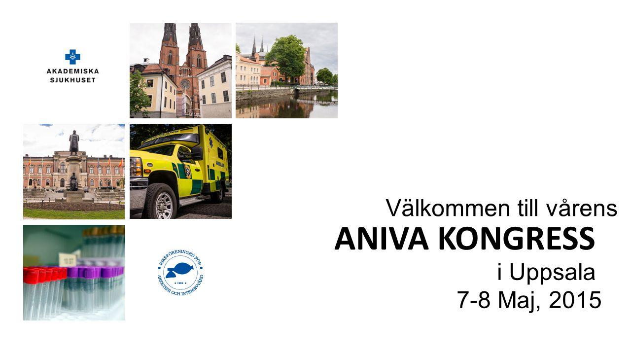 Välkommen till vårens ANIVA KONGRESS i Uppsala 7-8 Maj, 2015