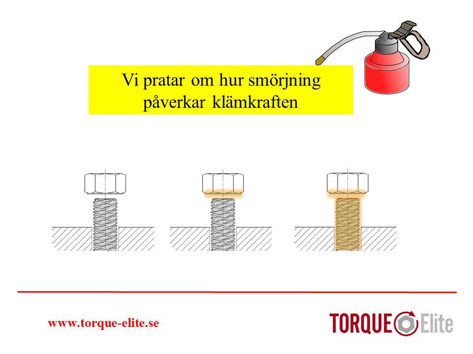www.torque-elite.se Vi pratar om hur smörjning påverkar klämkraften