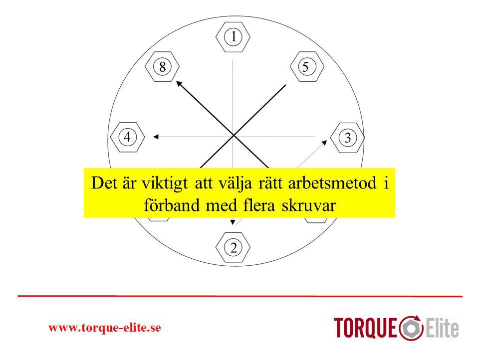 www.torque-elite.se Det är viktigt att välja rätt arbetsmetod i förband med flera skruvar