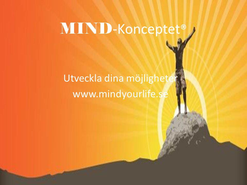 MIND -Konceptet ® Utveckla dina möjligheter www.mindyourlife.se