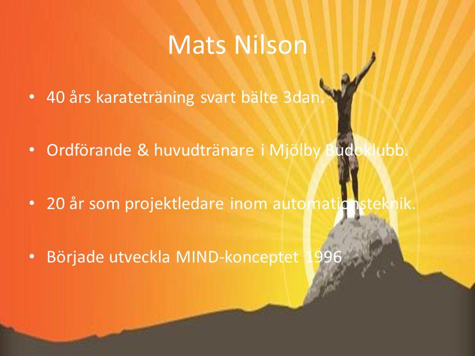 Mats Nilson 40 års karateträning svart bälte 3dan.