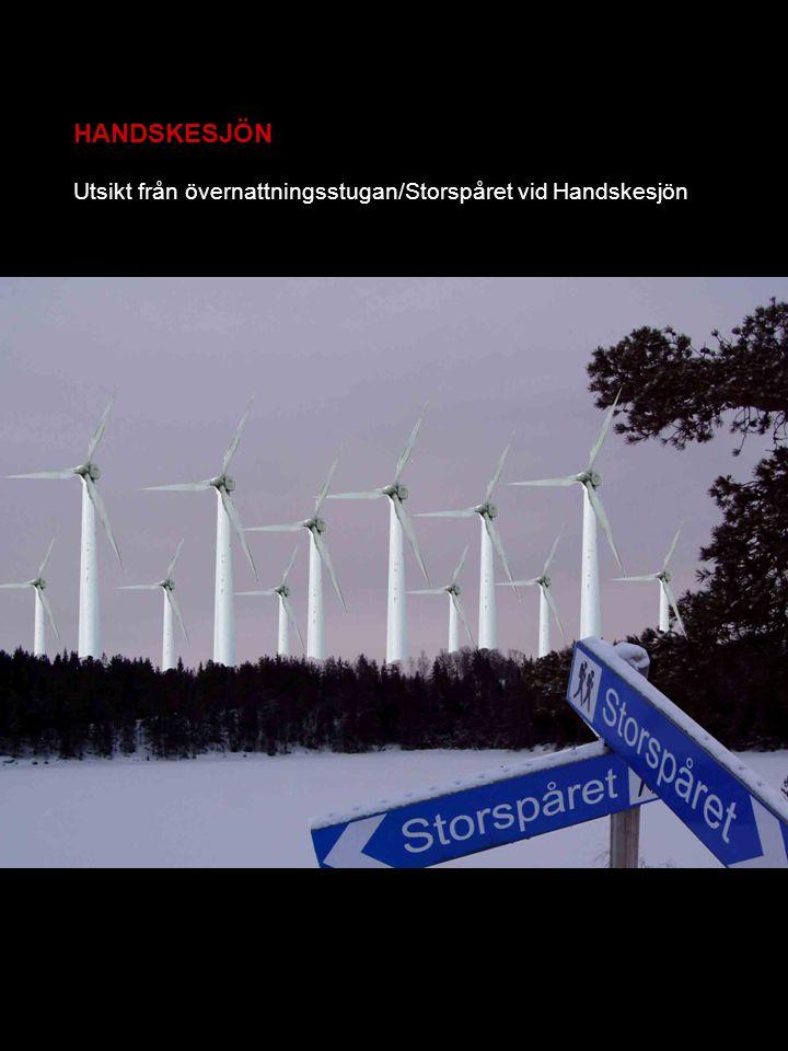 HANDSKESJÖN Utsikt från övernattningsstugan/Storspåret vid Handskesjön
