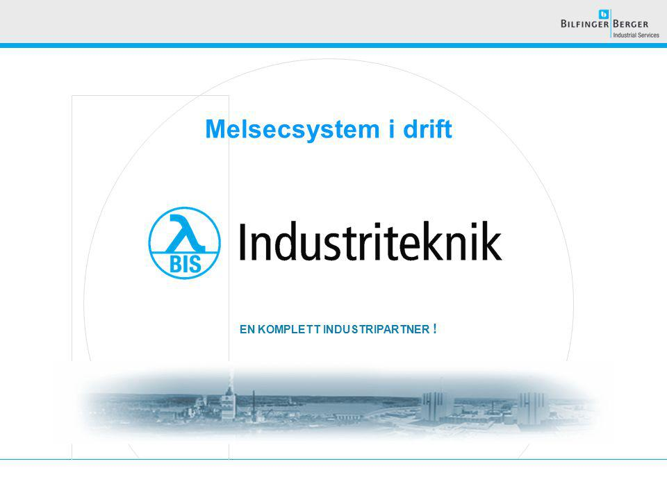 EN KOMPLETT INDUSTRIPARTNER ! Melsecsystem i drift