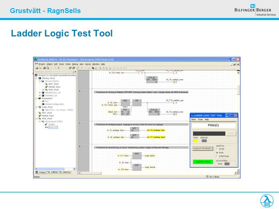 Grustvätt - RagnSells Ladder Logic Test Tool
