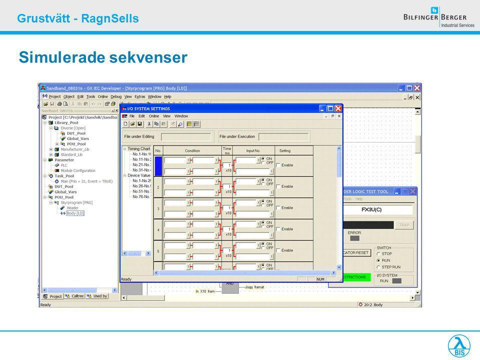 Grustvätt - RagnSells Simulerade sekvenser
