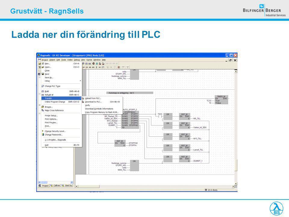 Grustvätt - RagnSells Ladda ner din förändring till PLC