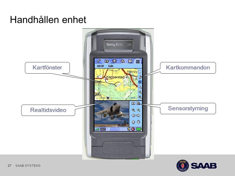 SAAB SYSTEMS 26 PRST i Stabsfunktion forts…KartaÖversikt 3D Staben under speldagen