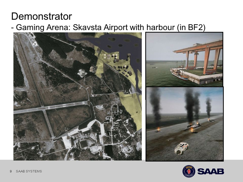 SAAB SYSTEMS 8 Demonstrator: - UV's & UV clients NAM Analysis Sensor control Communication PRST SonyEricsson P900 PRST