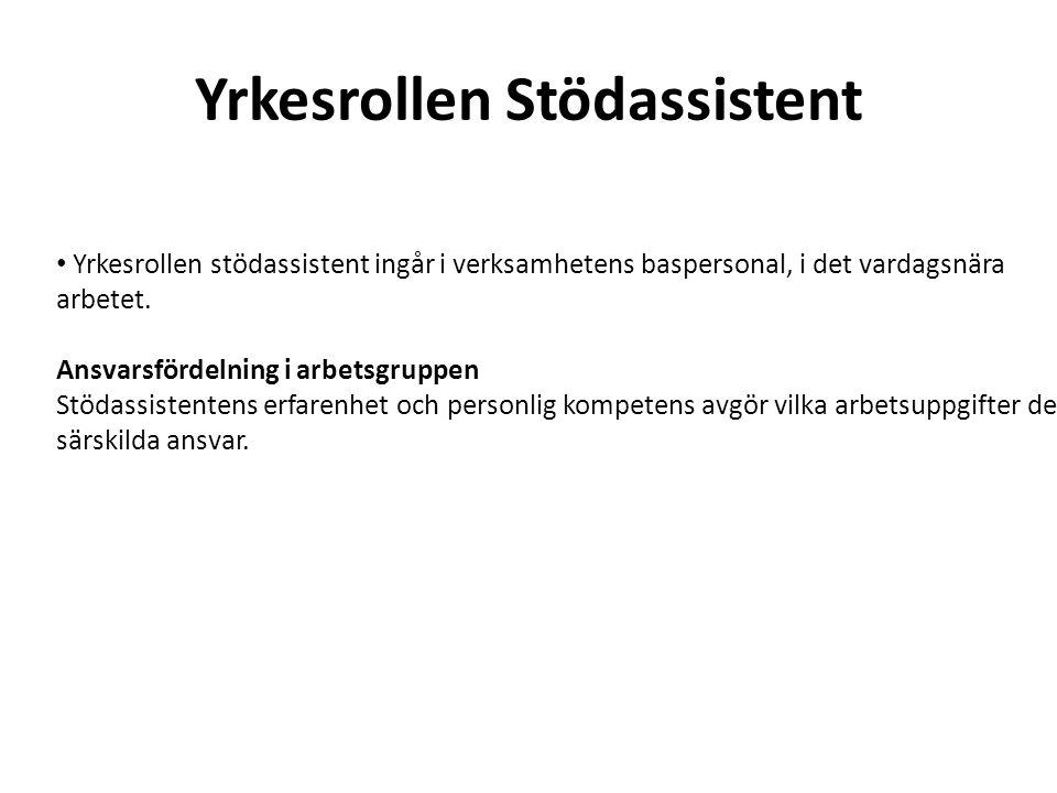 Yrkesrollen Stödpedagog Ett stöd i utvecklingsarbetet med bl.a.