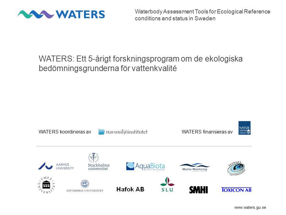 www.waters.gu.se Samlad bedömning För samlad bedömning av flera indikatorer inom en ekologisk kvalitetsfaktor finns idag inga gemensamma riktlinjer.
