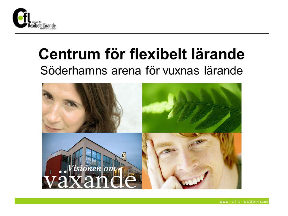 www.cfl.soderhamn.se Visionen om växande CFL erbjuder flexibelt lärande för individer, näringsliv och organisationer.