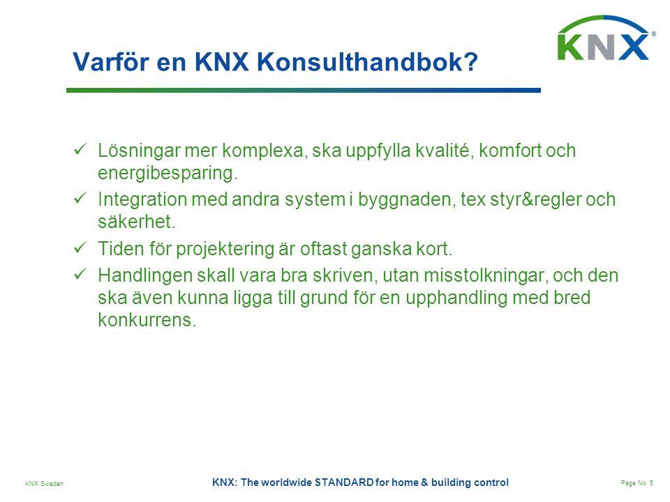 KNX Sweden Page No.