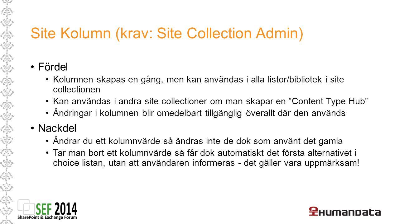 Creating Site Columns