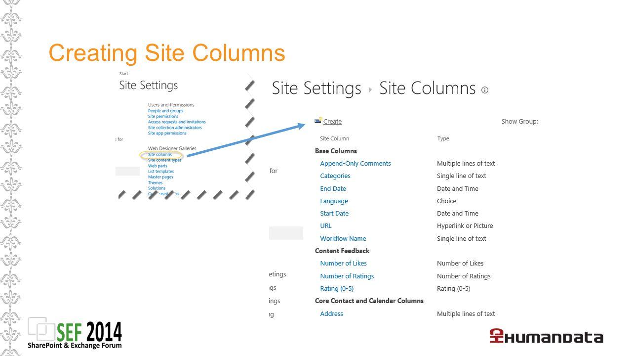 Term Store / Hanterad Metadata (krav: Site Collection Admin eller Term Store admin) Fördel: Kolumen kan göra tillgänglig för en site collection, eller för alla S.C.