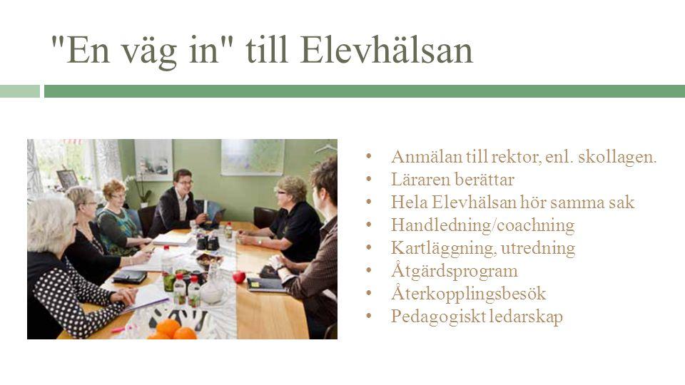 En väg in till Elevhälsan Anmälan till rektor, enl.