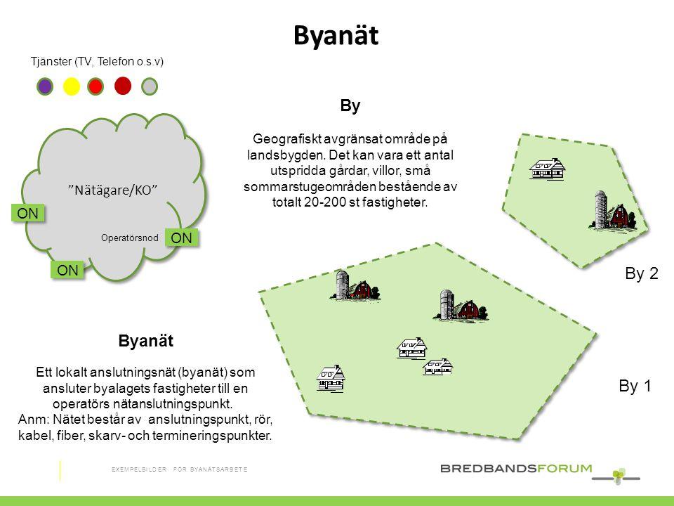 """Tjänster (TV, Telefon o.s.v) Byanät ON """"Nätägare/KO"""" Operatörsnod By 1 By 2 By Geografiskt avgränsat område på landsbygden. Det kan vara ett antal uts"""