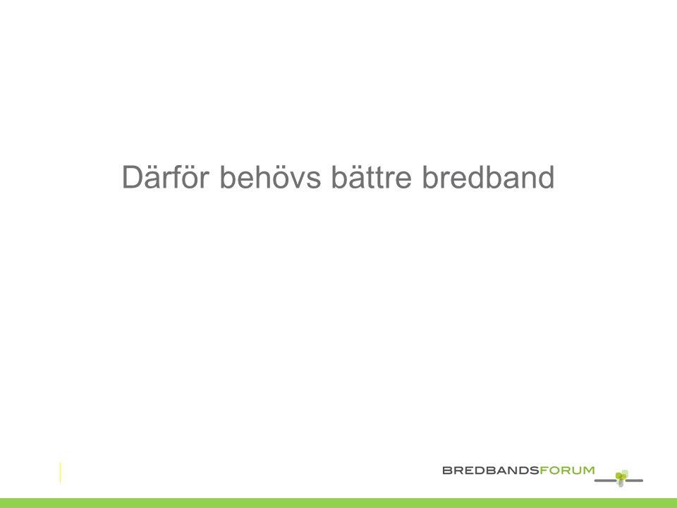Därför behövs bättre bredband