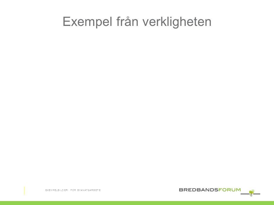 Exempel från verkligheten EXEMPELBILDER FÖR BYANÄTSARBETE