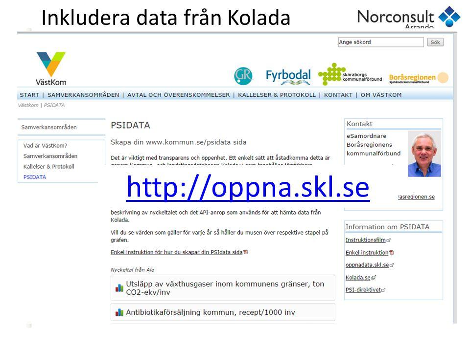 Inkludera data från Kolada http://oppna.skl.se