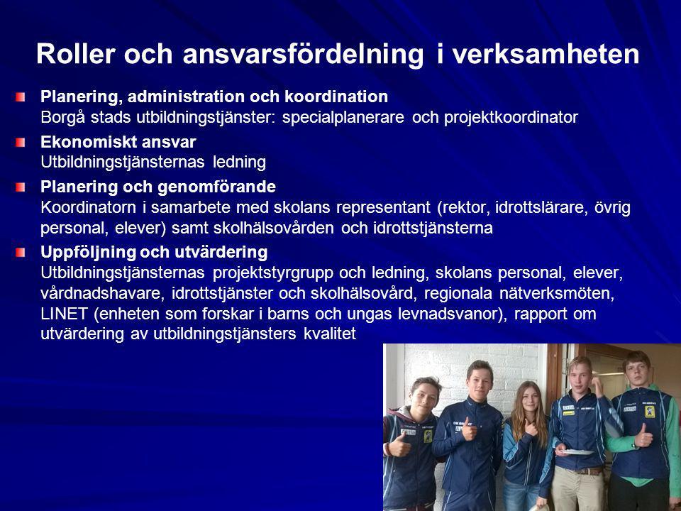 Roller och ansvarsfördelning i verksamheten Planering, administration och koordination Borgå stads utbildningstjänster: specialplanerare och projektko