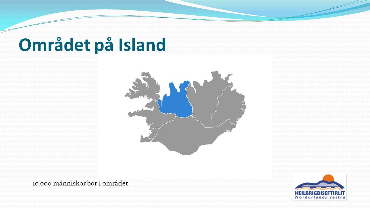 Området på Island 10 000 människor bor i området