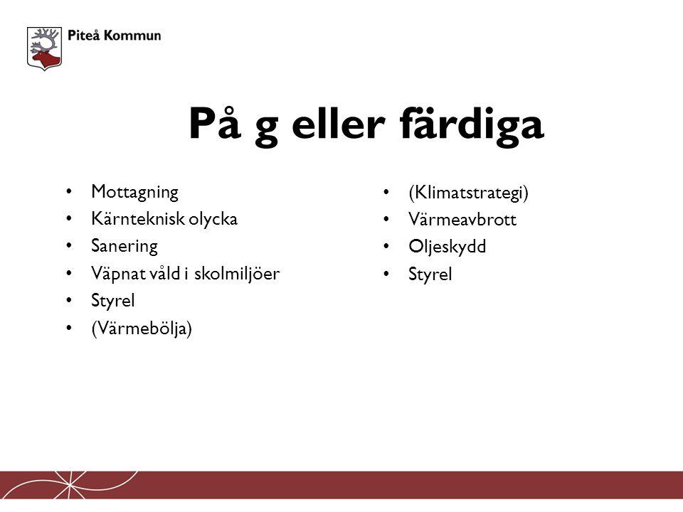 Plan för utrymning och sanering av Piteå kommun vid kärnteknisk olycka kärnteknisk olycka