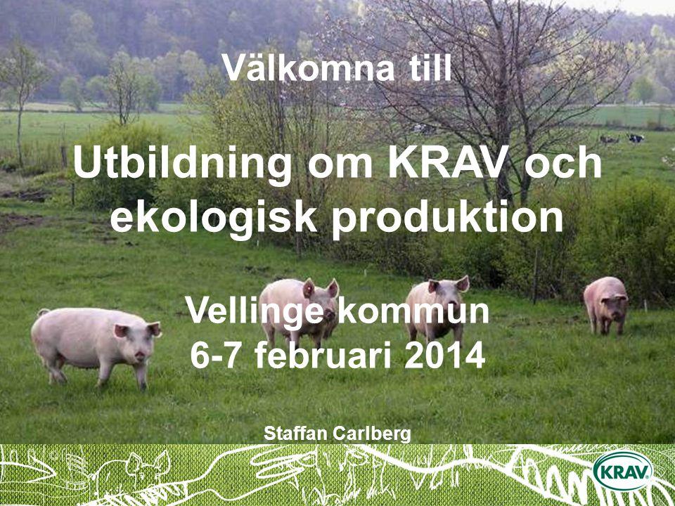 Välkomna till Utbildning om KRAV och ekologisk produktion Vellinge kommun 6-7 februari 2014 Staffan Carlberg