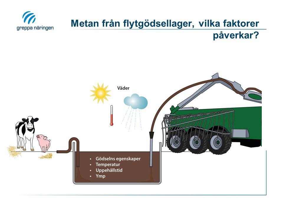 Metan från flytgödsellager, vilka faktorer påverkar?