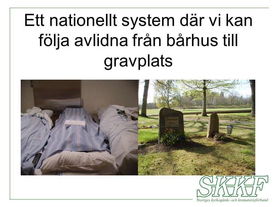 Ett nationellt system där vi kan följa avlidna från bårhus till gravplats