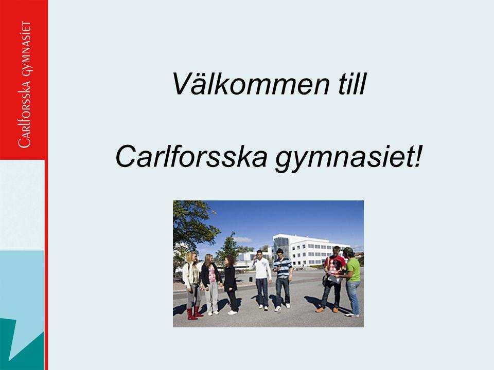 Välkommen till Carlforsska gymnasiet!