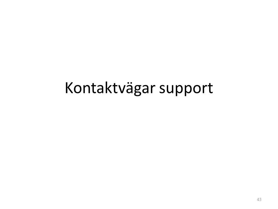Kontaktvägar support 43