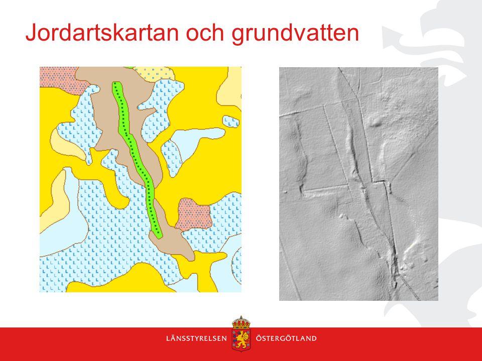 Jordartskartan och grundvatten