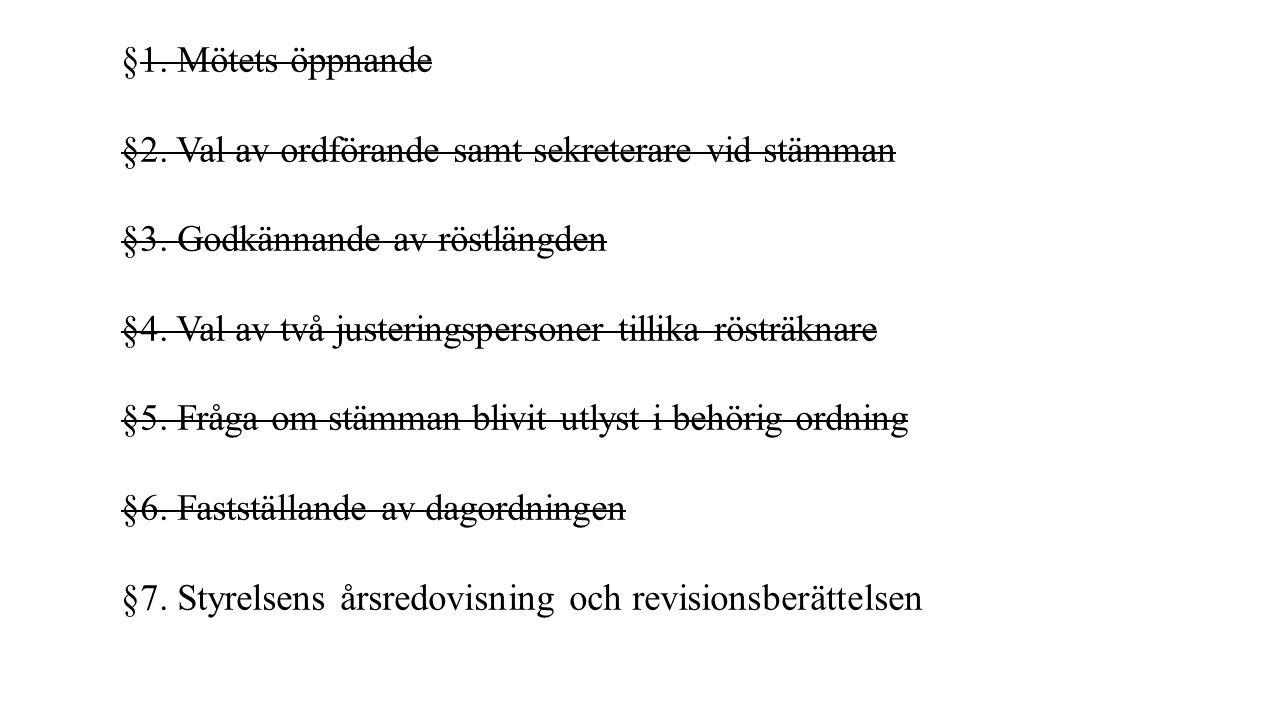 §14.Val av revisorer och revisorssuppleant/er.