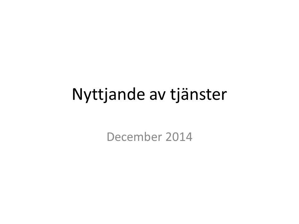 Nyttjande av tjänster December 2014