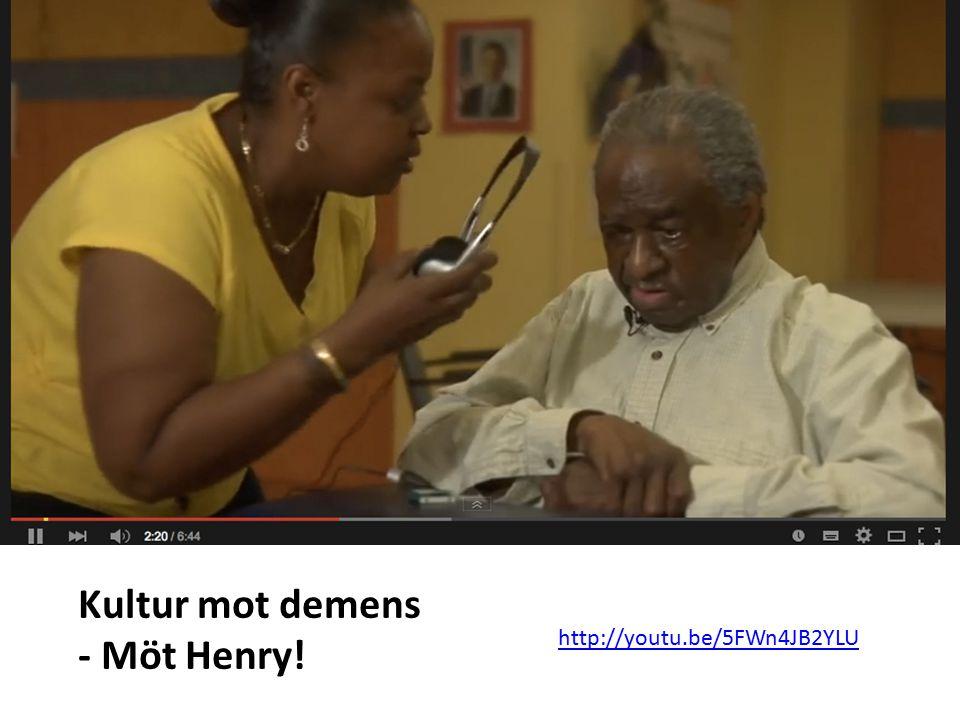 Kultur mot demens - Möt Henry! http://youtu.be/5FWn4JB2YLU