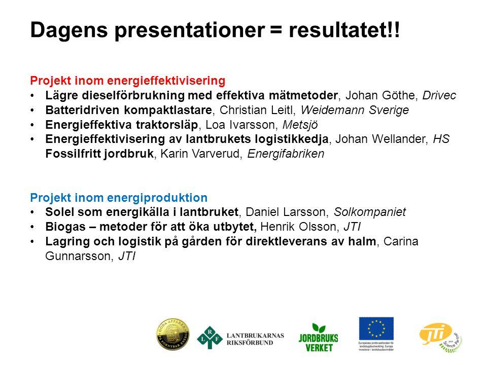 Projekt inom energieffektivisering Lägre dieselförbrukning med effektiva mätmetoder, Johan Göthe, Drivec Batteridriven kompaktlastare, Christian Leitl