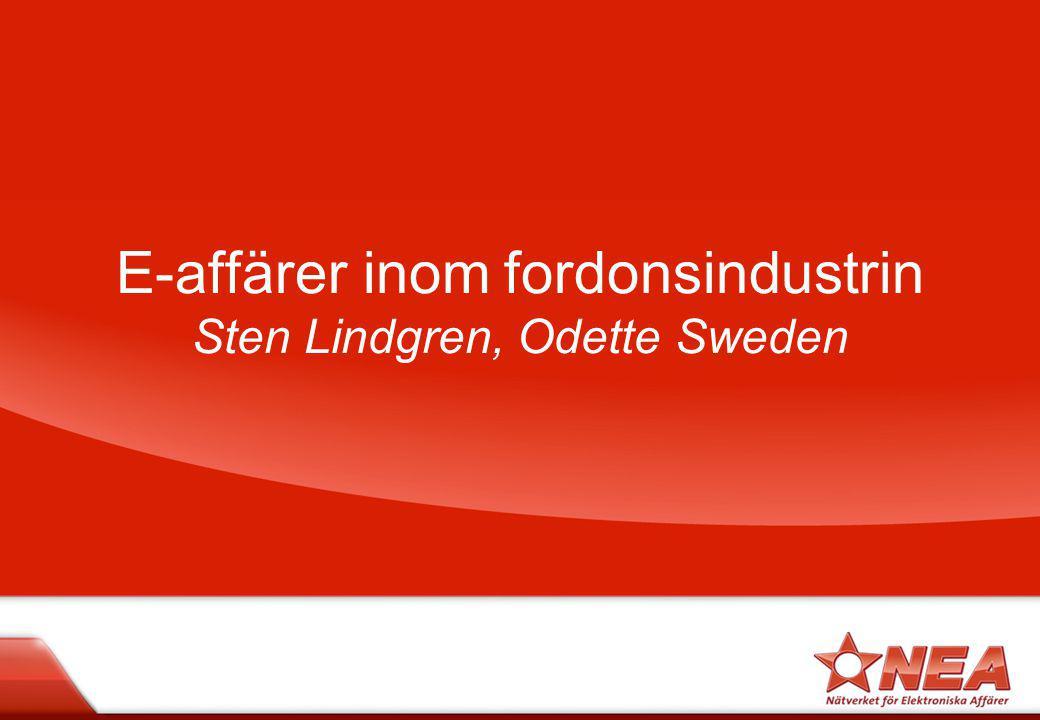 E-affärer inom fordonsindustrin Sten Lindgren, Odette Sweden