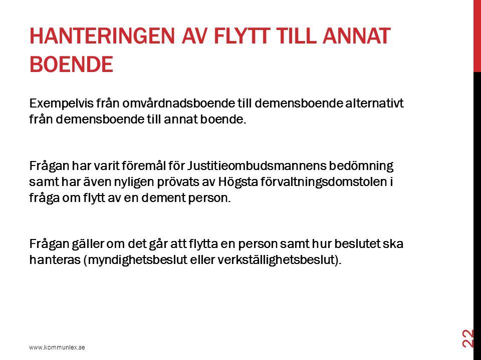 JO, DNR 1838-2002, 30 DECEMBER 2004 www.kommunlex.se 23  Av Justitieombudsmannens beslut framgår att frågan är komplicerad samt att den inte alltid har en given lösning.