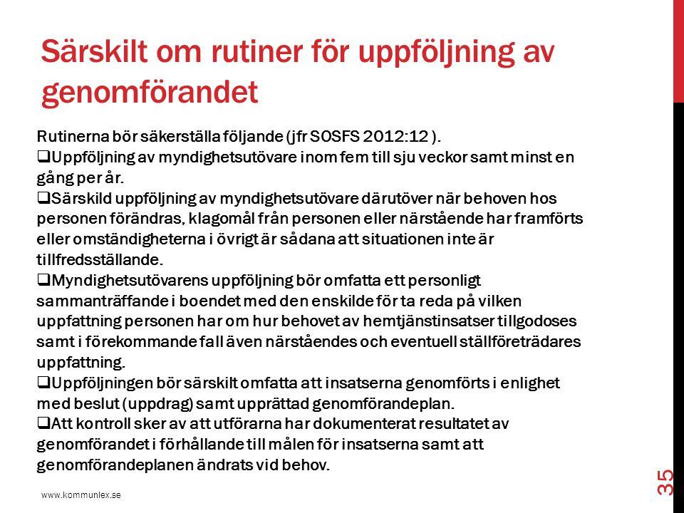 Självbestämmanderätt och integritet www.kommunlex.se 36  Socialtjänstlagen bygger på frivillighet, dvs.