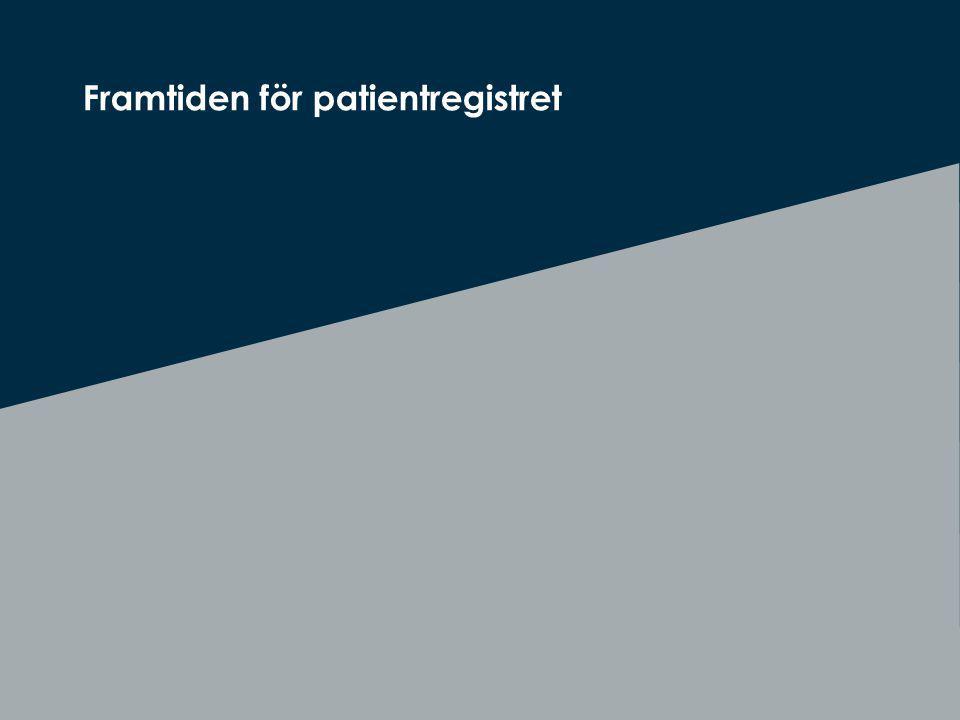 Att visa fotnot, datum, sidnummer Klicka på fliken Infoga och klicka på ikonen sidhuvud/sidfot Klistra in text: Klistra in texten, klicka på ikonen (Ctrl), välj Behåll endast text Rubrik: Century Gothic, bold 26pt Framtiden för patientregistret